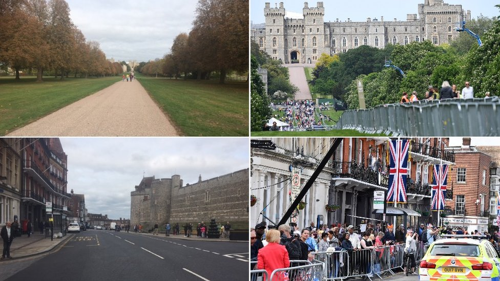 Scenes of Windsor in the build-up to Prince Eugenie's wedding and Prince Harry's wedding
