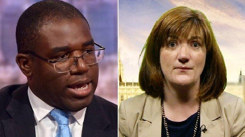 MP Lammy and MP Morgan