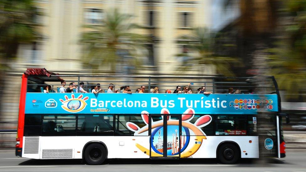 Barcelona tourist bus, 5 Aug 2016