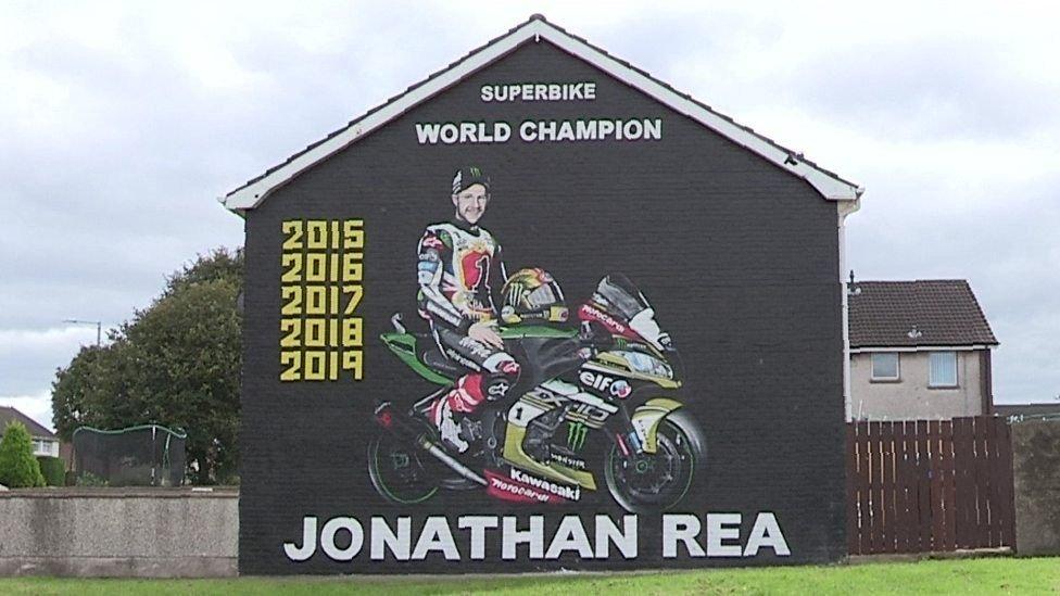 Jonathan Rea mural in Newtownards