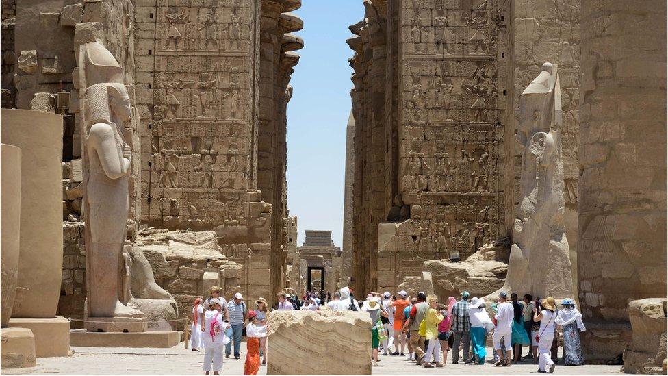 Luxor temple site