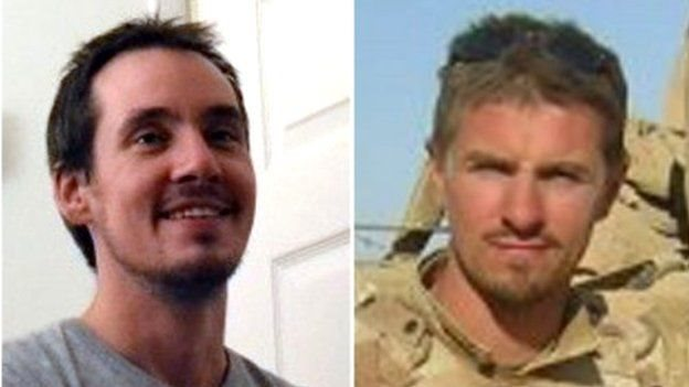 Is-gorporal Edward Maher a'r Corporal James Dunsby
