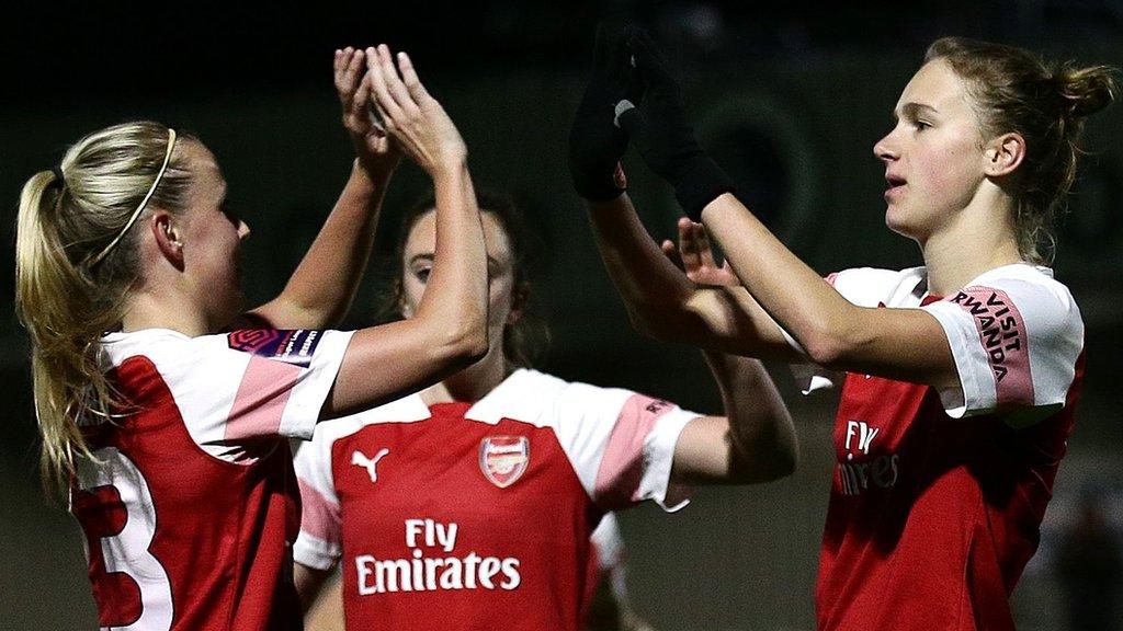 Arsenal Women 4-0 Bristol City Women: Vivianne Miedema hat-trick boosts Gunners' title bid