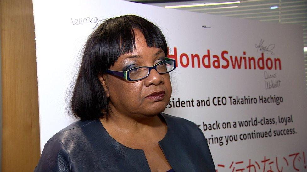 Diane Abbott joins fight to save Honda car plant