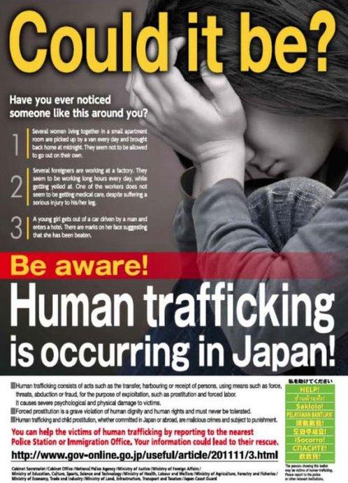 Cartel sobre la trata de personas en español