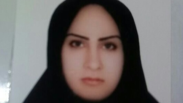 This picture shows Zeinab Sekaanvand, who was convicted of killing her abusive husband aged 17