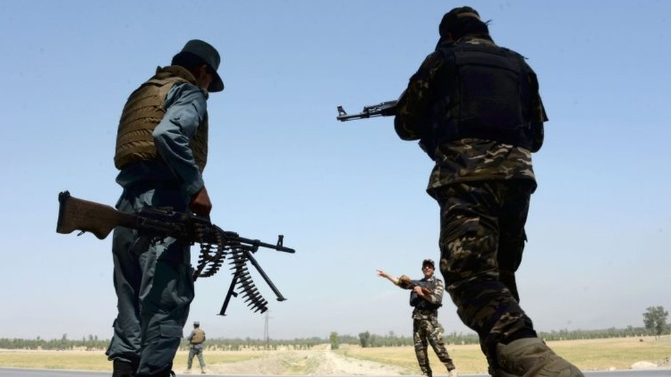 Afghan security personnel. File photo