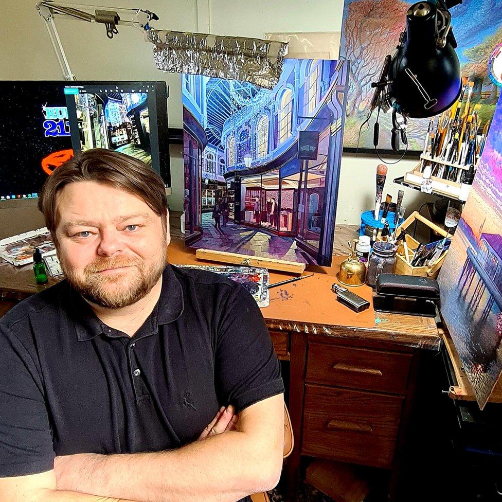 Carl in his studio