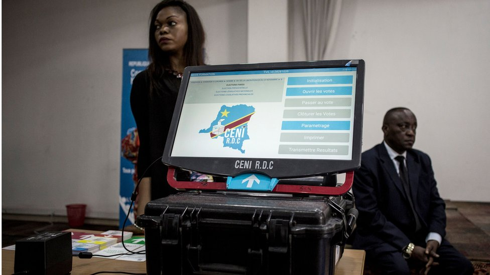 The e-voting machine that will be used in the upcoming elections