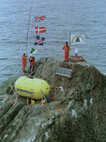 In 1997 three Greenpeace campaigners camped for 42 days on Rockall