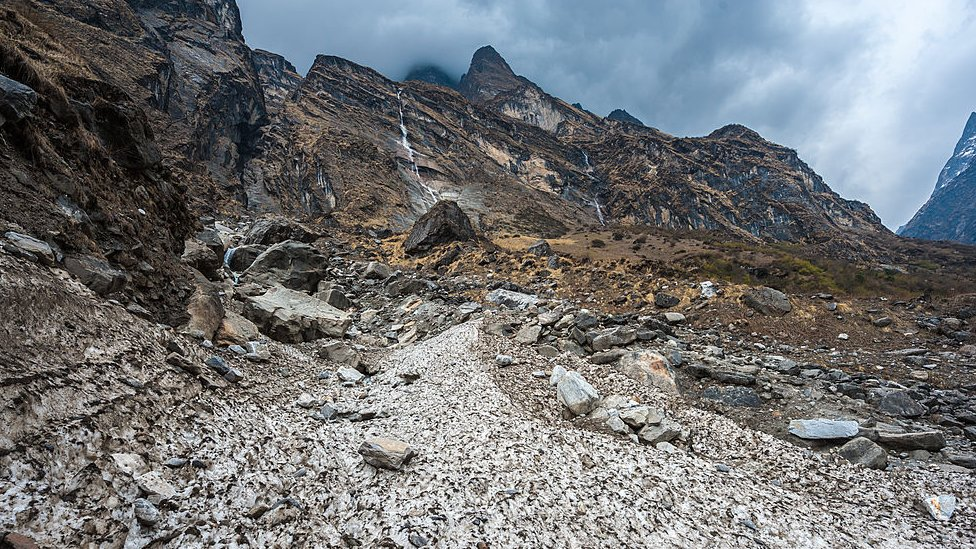 A study has linked larger and frequent landslides in high mountains of Asia to retreat of glaciers