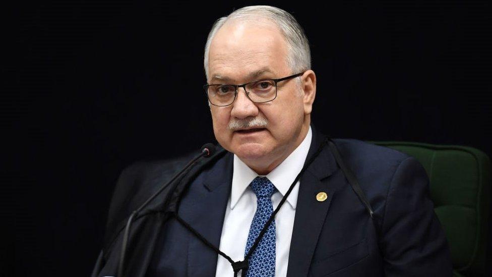 Edson Fachin en una sesión de la Corte Suprema de Brasil