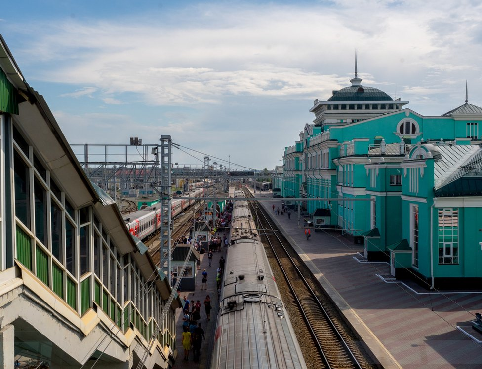 Omsk station in Russia
