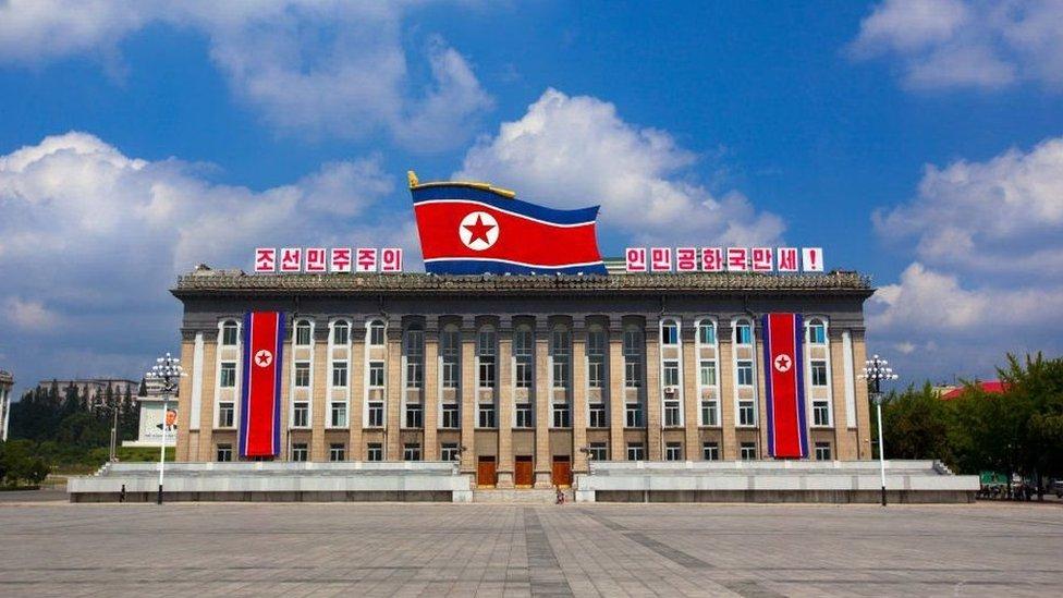 صورة للميدان الرئيسي في العاصمة الكورية الشمالية بيونغ يانغ
