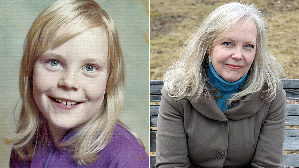 Pauline Dakin as a child, and today