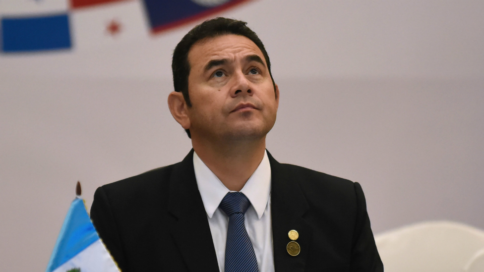 Presidente Jimmy Morales de Guatemala