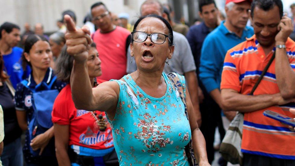 Protesta contra Nicolás Maduro