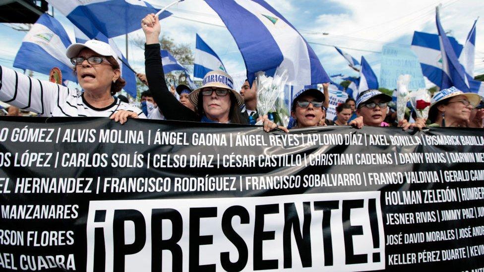 Marcha del Día de las Madres en Nicaragua.