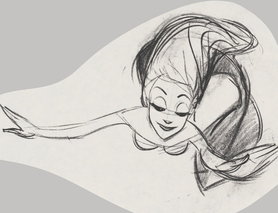 Later sketch of the Little Mermaid