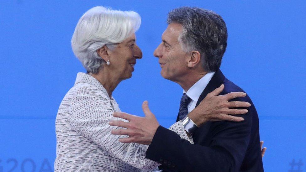 Christine Lagarde y Mauricio Macri.