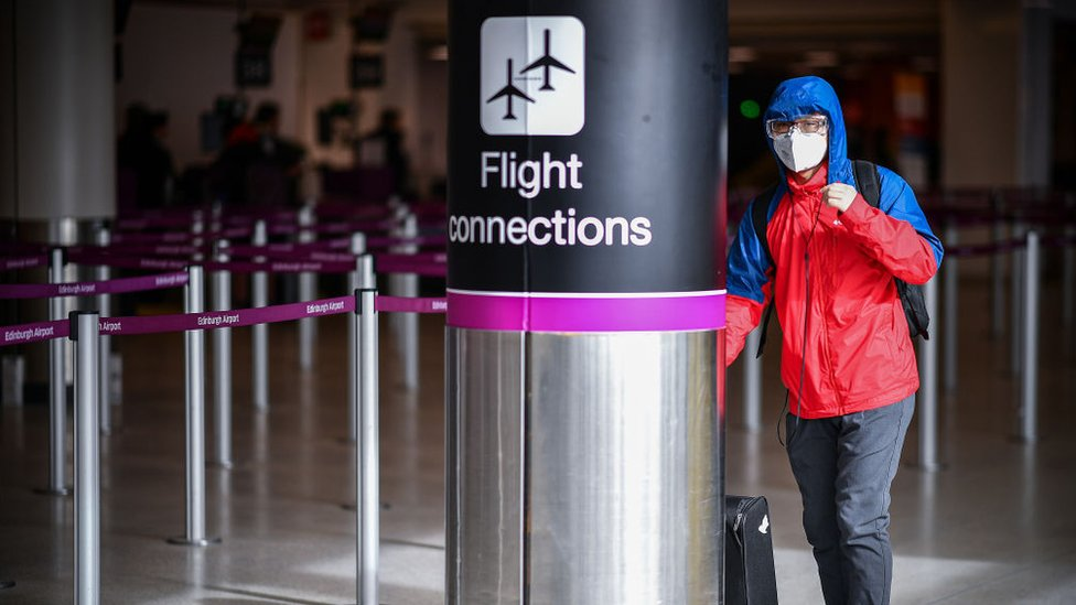 man at edinburgh airport