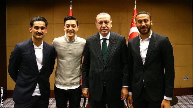 Gundogan, Ozil i Tosun iz Evertona sa Erdoganom