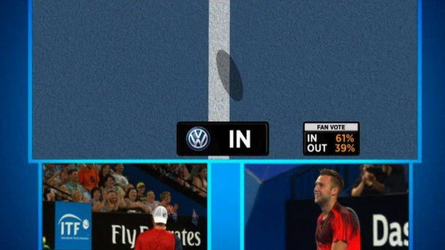 American Jack Sock shows incredible sportsmanship during his Hopman Cup match with Lleyton Hewitt as he tells his opponent to challenge a line judge's call.