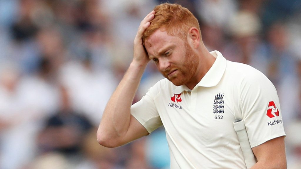 Watch: Bairstow bowled as England slump to 100-4