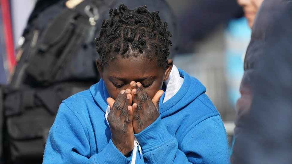 Migrants rescued by Spanish NGO waiting to disembark in Sicily