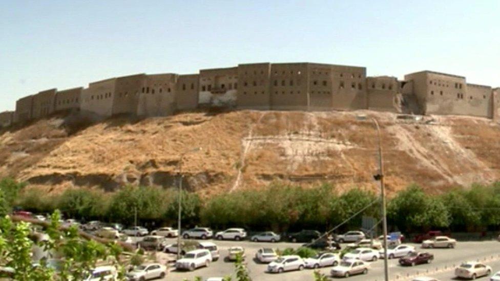 Irbil's ancient Citadel in northern Iraq