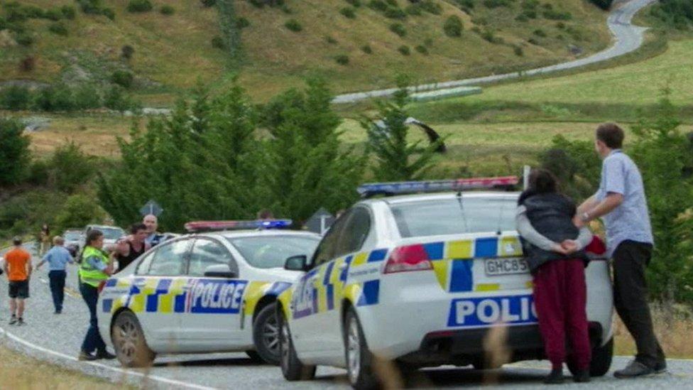 Fugitives being arrested