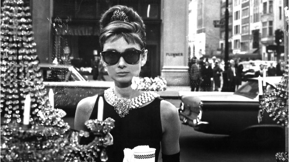 "Audrey Hepburn en ""Desayuno en Tiffany's""."