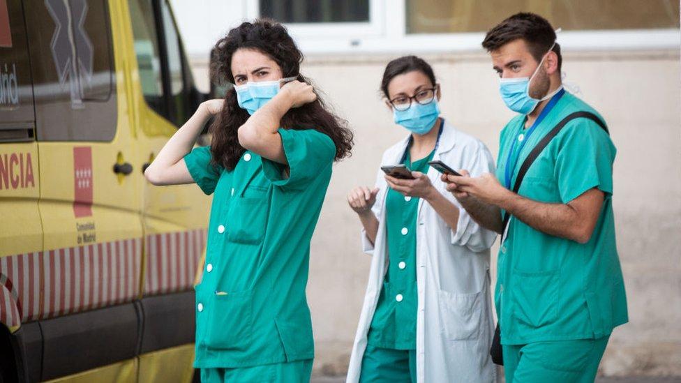 Médicos en Madrid.