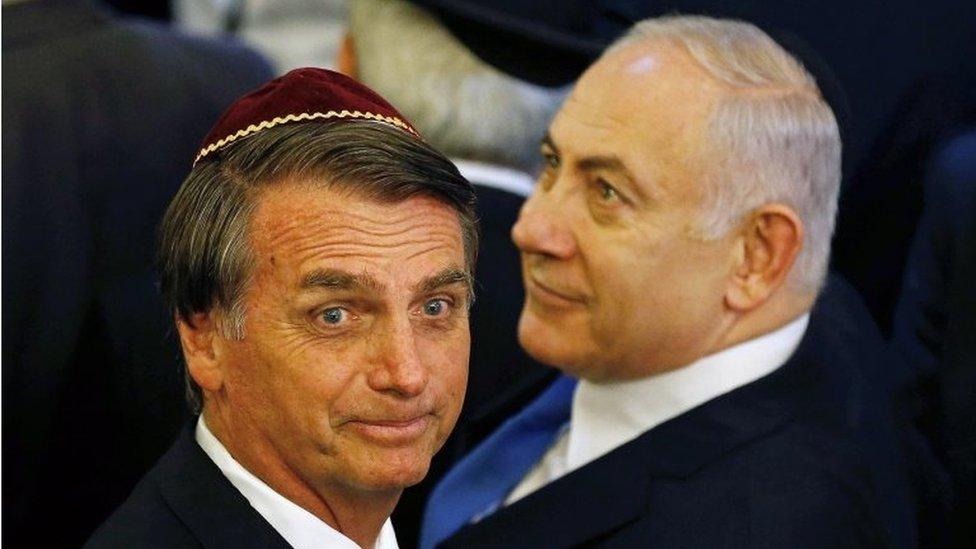 Jair Bolsonaro y Benjamín Netanyahu