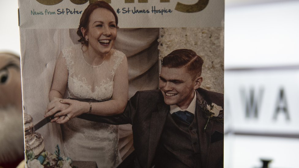 Olivia Meheux and David Willie's wedding card
