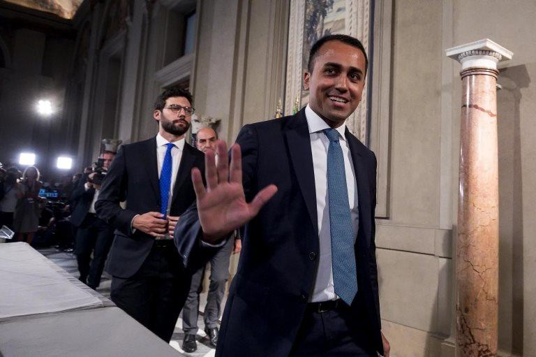 5 Yıldız Hareketi (M5S) siyasi lideri Luigi Di Maio