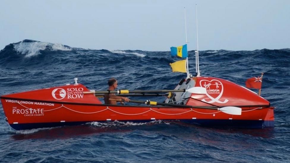 John Beeden in choppy waters