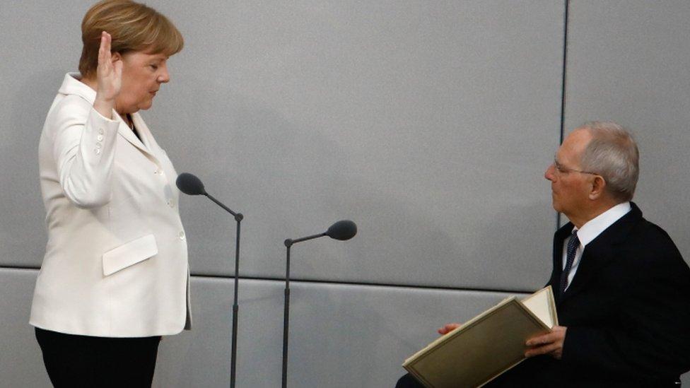 Angela Merkel Sworn In For Fourth Term As German Chancellor Bbc News