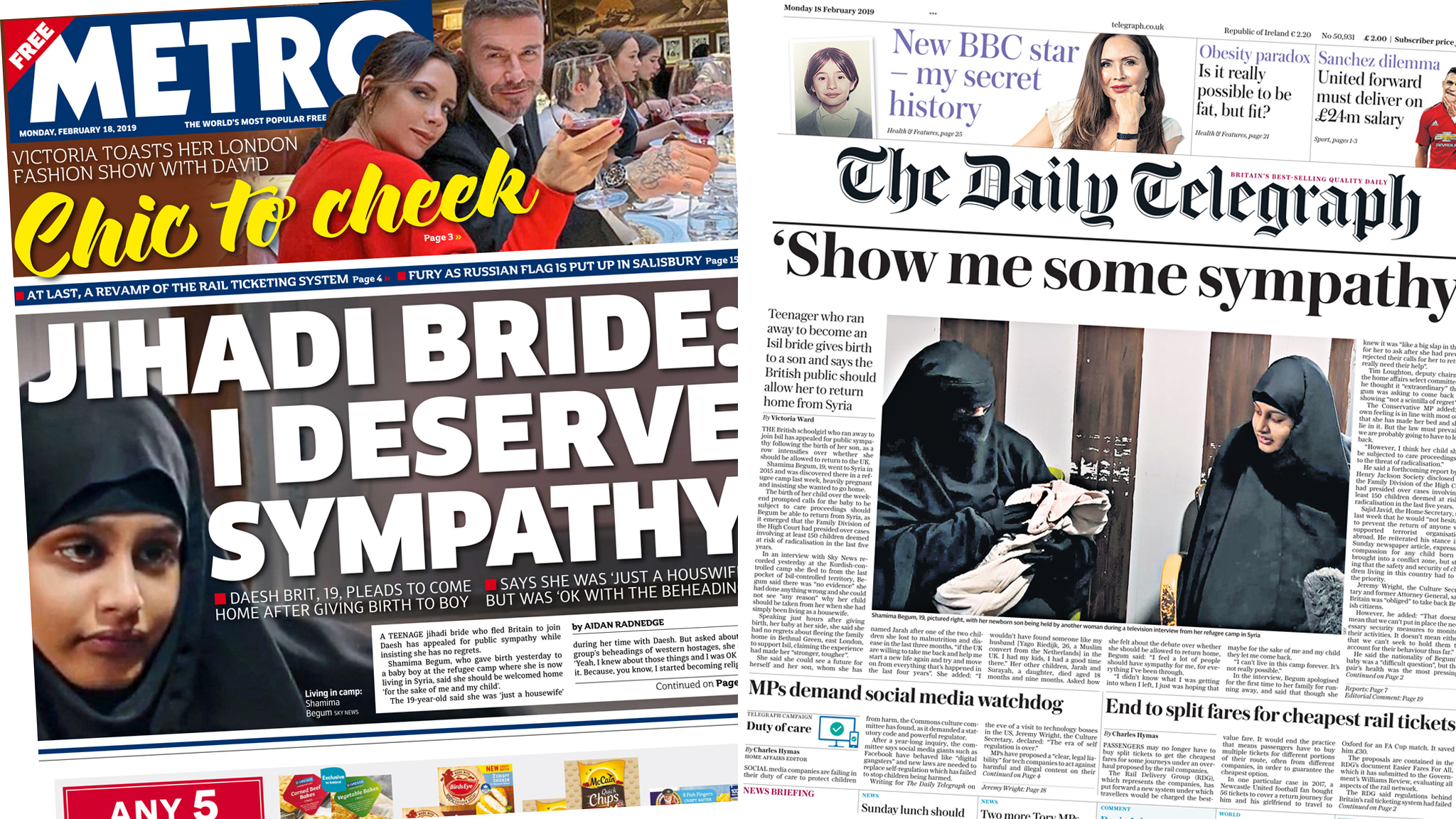 The Papers: IS bride pleads for sympathy