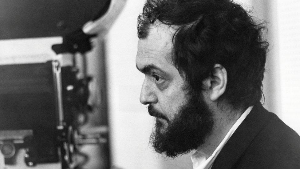 Kubrick during A Clockwork Orange filming