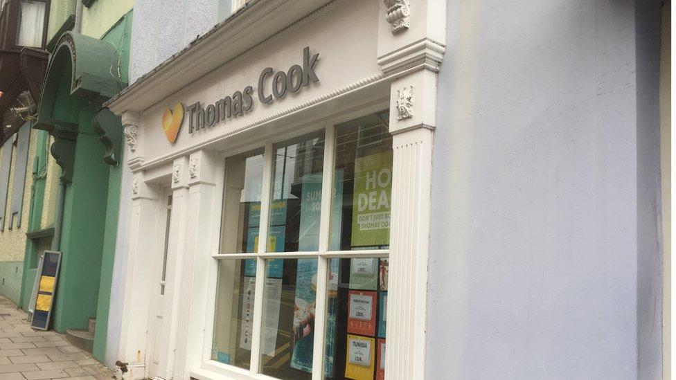 The Thomas Cook store in Cardigan, Ceredigion, closed