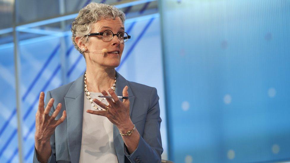 Maggie Jackson, en una charla en Google en 2018