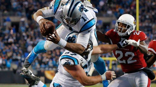 Cam Newton's 'Superman' touchdown