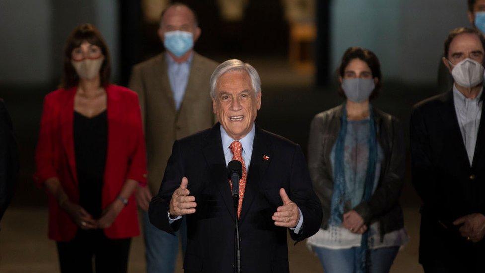 Sebastián Piñera habló desde La ;Moneda