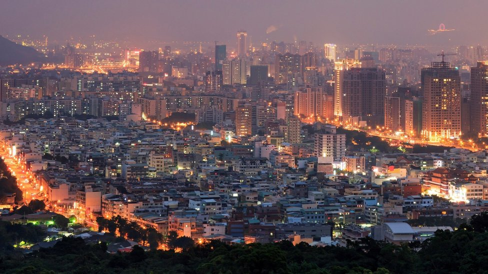 The Kaohsiung skyline at dawn