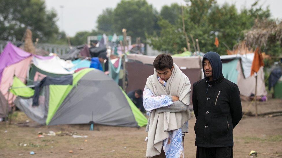 Migrants in Horgos, Serbia, July 2016