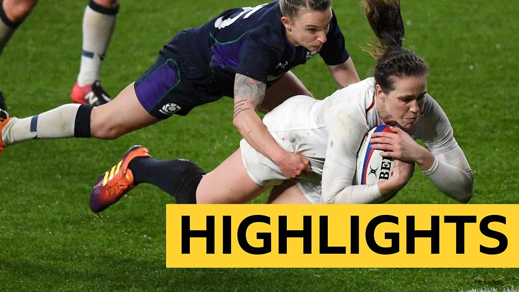 Women's Six Nations: England thrash Scotland to seal Grand Slam
