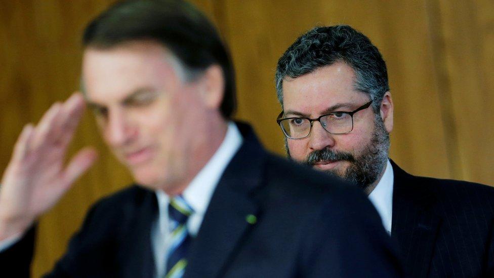 Jair Bolsonaro y Ernesto Araújo