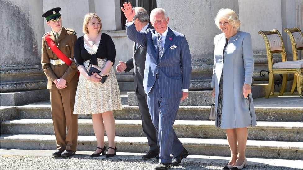 Charles and Camilla attend Fermanagh garden party
