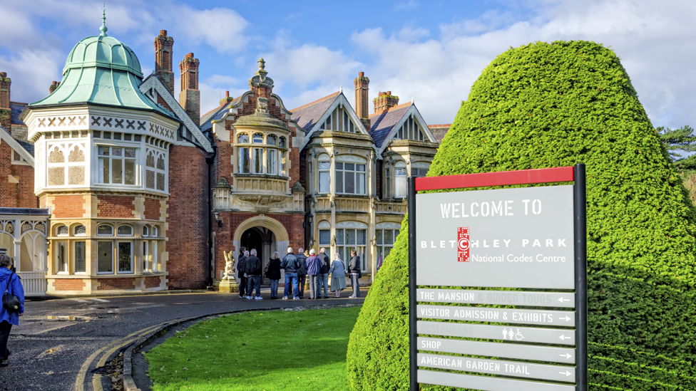 Front of Bletchley Park